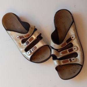 Romika silver sandals w 3 straps/sandals-sz 9